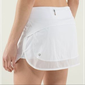Lululemon Hotty Hot Skirt White